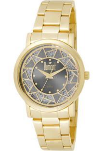 db700199caa Relógio Digital Dourado Dumont feminino
