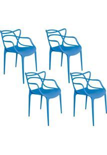 Kit 04 Cadeiras Facthus Amsterdam Azul