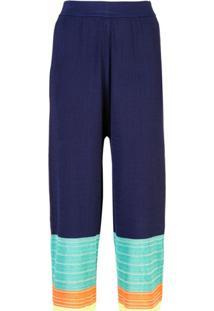 I-Am-Chen Vestido Plissado Com Detalhe Contrastante - Azul