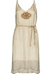 One Vintage Slip Dress De Organza - Neutro
