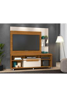 Estante Para Home Theater E Tv Até 50 Polegadas Marcos Naturale E Off White