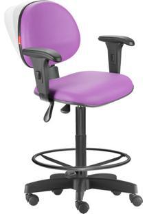 Cadeira Caixa Alta Ergonômica Nr17 Lisa Lilás