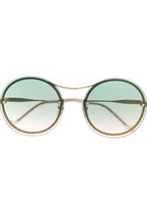 Liu Jo Óculos De Sol Aviador Redondo - Verde