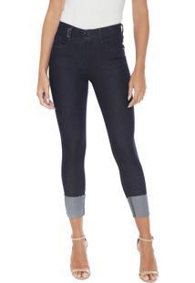 e95d288a7 ... Calça Jeans Lança Perfume Skinny Cropped Diana Azul-Marinho