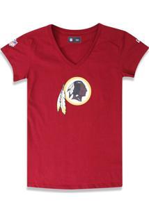 T-Shirt New Era Baby Look Washington Redskins Vermelho Escuro - Tricae
