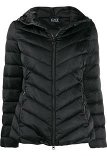 Ea7 Emporio Armani Puffer Jacket - Preto