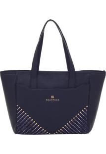 Bolsa Couro Smartbag Tiracolo Marinho - 78104