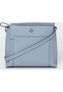 Bolsa Transversal Com Recortes - Azul Claro- 19,5X22Capodarte