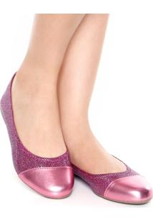 Sapatilha Dafiti Shoes Lurex Rosa