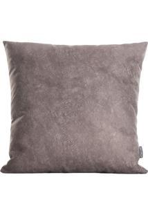 Capa De Almofada Premium- Marrom Escuro- 42X42Cmstm Home