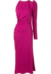 Manning Cartell Vestido Assimétrico Com Vazado - Rosa