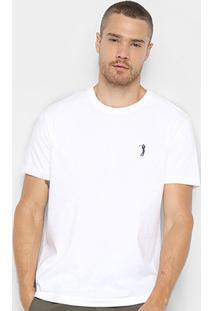 Camiseta Aleatory Básica Masculina - Masculino-Branco