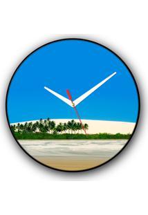 Relógio De Parede Colours Creative Photo Decor Decorativo, Criativo E Diferente - Duna E Coqueiros