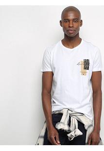 Camiseta Acostamento Resort Masculina - Masculino-Branco