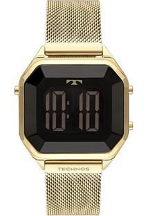 Relógio Technos Digital Bj3851Aj/4P Feminino - Feminino-Dourado