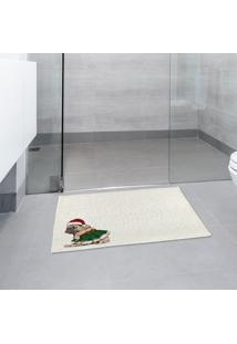 Tapete De Pano Para Banheiro Pug De Saia Único