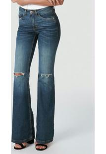 Calça Azul Flare Flex Jeans