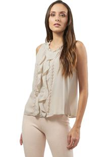 Regata Mx Fashion Crepe Babados Albert Nude