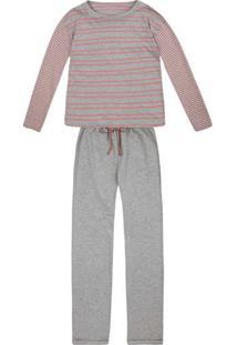 Pijama Feminino Em Moletinho Estampado