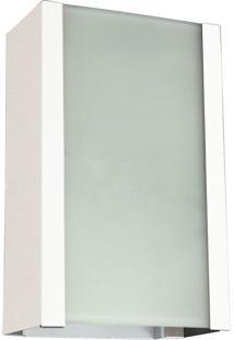 Arandela Dela Avr 054 Branco Aluminio E Vidro 60W