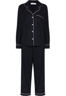 Desmond & Dempsey Pijama De Algodão - Azul