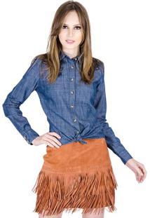 Camisa Jeans Com Bordado Colcci