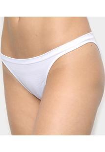 Calcinha Tanga Trifil Lisa - Feminino-Branco