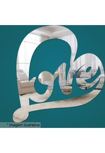 Espelho Love- Espelhado- 21X19X2Cm- Cia Lasercia Laser