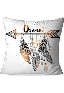 Capa De Almofada Avulsa Decorativa Dream 45X45Cm
