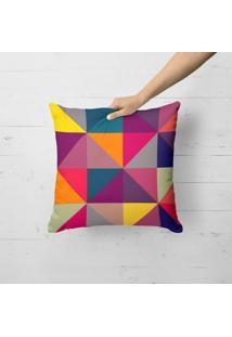 Capa De Almofada Avulsa Decorativa Geométricos Multicolors 35X35Cm - Kanui