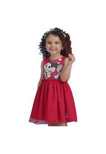 Vestido Turma Da Mônica Licenciado Vermelho Mon Sucré 6 Vermelho