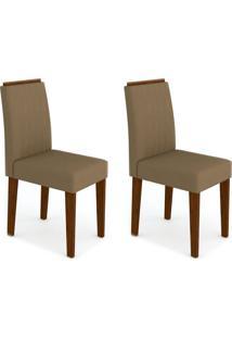 Conjunto Com 2 Cadeiras Ana Castanho E Marrom