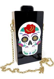 Bolsa Clutch Mexicana - Preto - Feminino - Dafiti