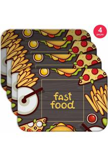 Jogo Americano Love Decor Wevans Fast Food Kit Com 4 Pçs