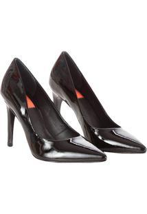 Sapato Scarpin Calvin Klein Jeans Verniz Couro Preto - 36
