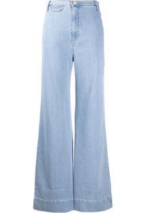 Katharine Hamnett London Calça Jeans Flare Cintura Alta - Azul