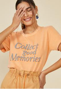 T-Shirt Amaro Good Memories Laranja - Laranja - Feminino - Dafiti