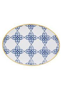 Conjunto De Baixelas Oxford Coup Lusitana 2 Peças Porcelana Branco/Azul