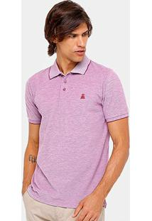 Camisa Polo Broken Rules Piquet Mesclado Masculina - Masculino-Vermelho Claro