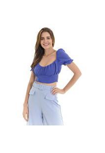 Blusa Kassis Cropped Azul