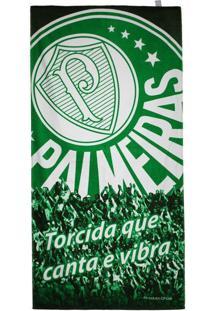 Toalha De Banho Bouton Veludo Torcida Palmeiras