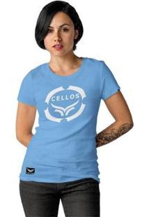 Camiseta Cellos Corp Premium Feminina - Feminino-Azul Claro