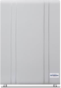 Cabeceira Tamisa Corino Branco Solteiro (8X90X125) Revestida Em Corino Ortobom - Branco - Dafiti