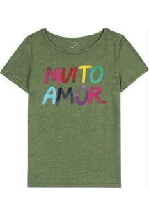 Blusa Verde Militar Muito Amor Sustentável