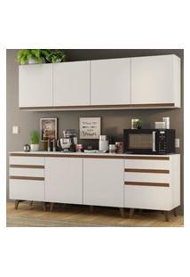 Cozinha Completa Madesa Reims 240002 Com Armário E Balcáo - Branco Branco