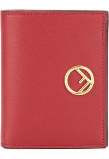 Fendi Carteira Com Logo 'F' - Vermelho