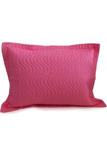 Porta Travesseiro Avulso Matelado - Appel - Rosa Pink - Tricae
