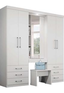 Guarda-Roupa Casal Com Espelho Los Angeles 5 Pt 6 Gv Branco