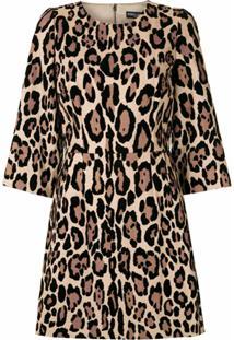 Dolce & Gabbana Vestido Curto Animal Print - Neutro