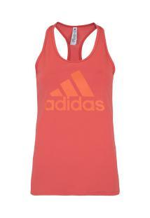 ... Camiseta Regata Adidas D2M Logo - Feminina - Laranja Escuro 6c8e31aa5ea